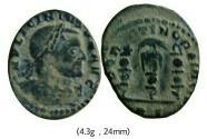 Ancient Coins - Licinius I Æ Follis  312-313 AD. Rome mint .
