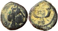 Ancient Coins - Aretas IV with his daughter Phasaelis, 9 BC -40 AD.
