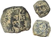 Ancient Coins - Malichos II with Shaqilat. AD 40-70. Barbarian style .the second record online