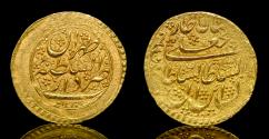 World Coins - Qajar, Fath Ali Shah, AH1212-1250/1797-1834AD.AV Gold coin,  Iran. Toman, Date: AH1230. Mint: Tehran