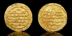 World Coins - ISLAMIC , Buwayhid. temp. Abu Kalijar  Gold Dinar, 'Uman Mint: Oman Date: 432h,  About extremely fine. Very rare.