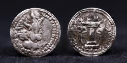 Ancient Coins - SASANIAN KINGDOM: Shahpur (Sabuhr) I, 241-272, AR obol