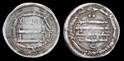World Coins - Abbasid,  al-Mahdi, silver dirham, Mint: Qasr al-Salam, Date: 168h, Rare