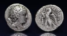 Ancient Coins - Ptolemaic Kingdom. Ptolemy IV Philopator or Ptolemy V Epiphanes. Silver Didrachm, 222-205/4 BC or 204-180 BC.