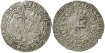 World Coins - Low Countries, Flanders. Louis De Male, AD 1346 to 1384. Silver double Gros.