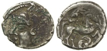 Ancient Coins - CELTIC GAUL, CENTRAL TO EASTERN.  BITURIGES CUBI.  MID 2ND CENTURY BC.  SILVER DRACHM.