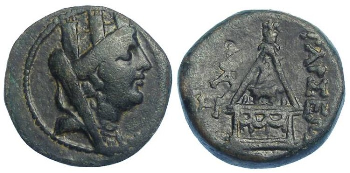 Ancient Coins - Tarsos on Cilicia.  after 164 BC.  AE 22.
