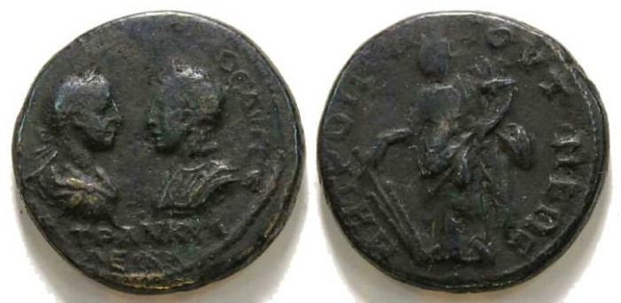 Ancient Coins - Gordian III and Tranquillina from Tomis