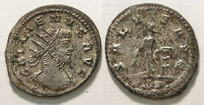 Ancient Coins - Gallienus, AD 253 to 268. Billon Antoninianus