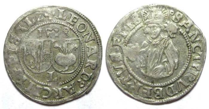 Ancient Coins - Austria. Salzburg. Leonhard von Keutschach, Silver Batzen, AD 1518
