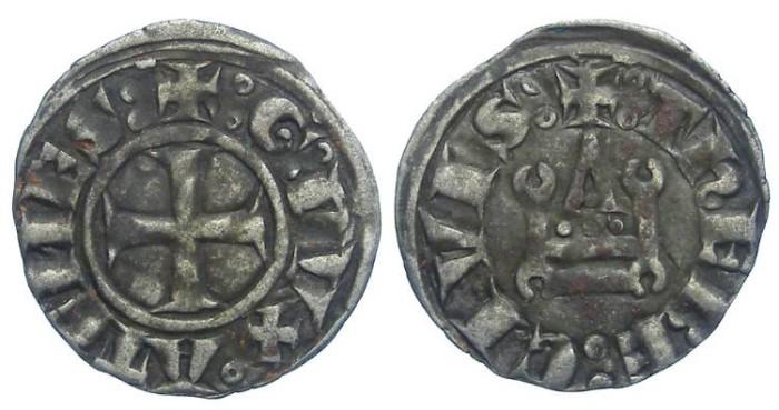 Ancient Coins - Crusaders in Frankish Greece, Athens, William de la Roche, AD 1280-1287 and Guy II de la Roche, AD 1287 to 1294.