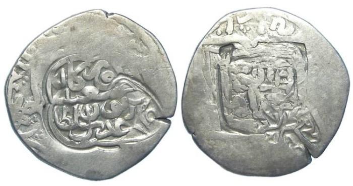 Ancient Coins - Islamic. Timurids.  Abu Sa'id.  AD 1451 to 1469. Silver tanka.