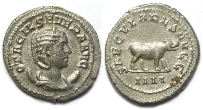 Ancient Coins - Otacilia Severa, AD 244 to 249, AR Antoninianus. Millennium series.