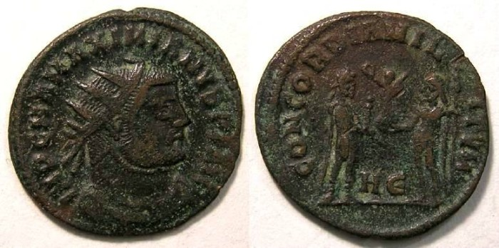 Ancient Coins - Maximianus, first reign, AD 286 to 305. Post-reform radiate.
