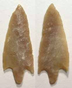 Ancient Coins - North African flint arrow or atlatl point. Mesolithic period, ca. 4000 to 10,000 BC.