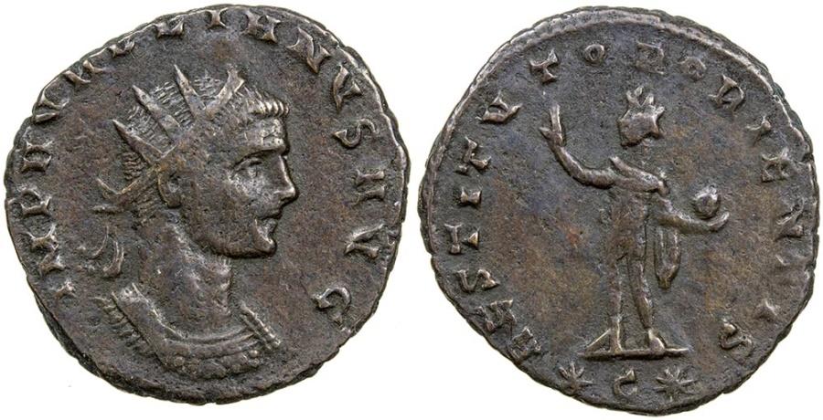 Ancient Coins - Aurelian, AD 270-275. Bronze antoninianus.  RARE TYPE.