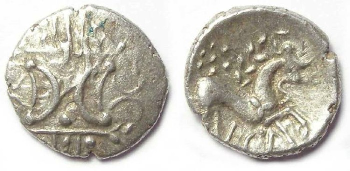 Ancient Coins - Celtic, British. Iceni. ca. AD 25 to 38. Silver unit. ECE type.