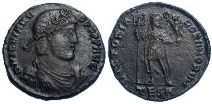 Ancient Coins - Jovian, AD 363-364. AE 1