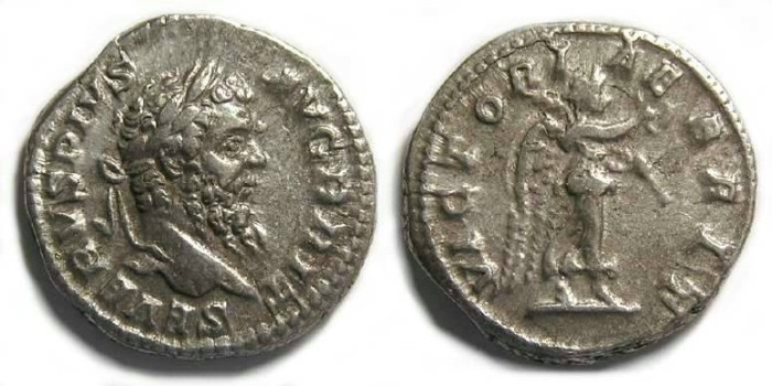 Ancient Coins - Septimius Severus,   Victory over Britian.