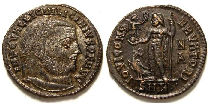 Ancient Coins - Licinius I, AD 308-324. Bronze follis.