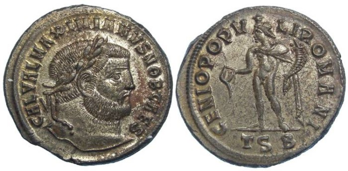 Ancient Coins - Galerius, as Caesar, AD 293-305. AE follis.