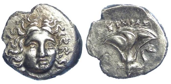 Ancient Coins - Rhodes. ca. 304-167 BC. Silver drachm.