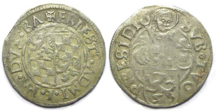 Ancient Coins - Germany, Passau Bishopric of Patavia (in Bavaria). Ernst, AD 1517 to 1540. Silver Batzen. Dated 1522.