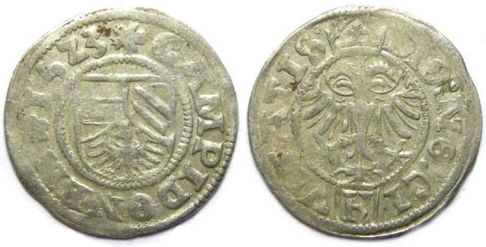 Ancient Coins - German, Kempten city coinage. Silver 1/2 Batzen. Dated 1523.