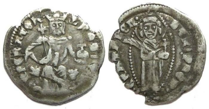 Ancient Coins - Dalmatia, Cattara, Stefan Uros V, AD 1356-1371. Silver gross.