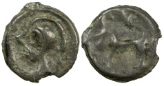 Ancient Coins - Celtic, Gaul. Suessiones or Tricasses.  1st to 2nd century BC. Cast potin.