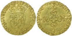 World Coins - France. Royal. Henry III. Ecu d'or au Soleil.  1579 H.   Polish title.