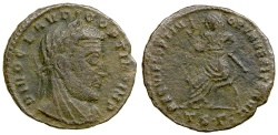 Ancient Coins - DIVO CLAUDIUS II, ISSUED BY CONSTANTINE i, CA. AD 317-318