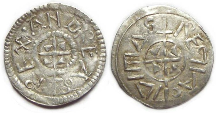 Ancient Coins - Hungary. Andreas I,AD 1046 to 1060. Silver Denar.