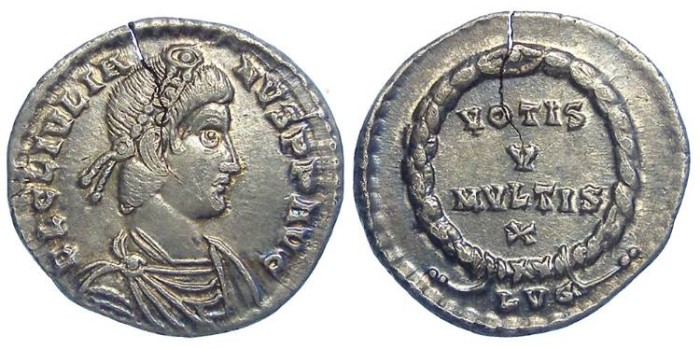 Ancient Coins - Julian II. AD 360 to 363. Silver siliqua.