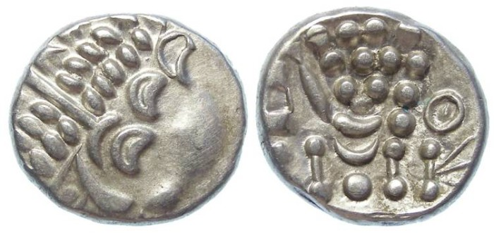 Ancient Coins - Celtic, British. Durotriges. ca. 58 to 45 BC.  good Silver stater.