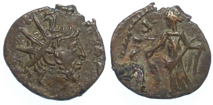 Ancient Coins - Barbarous imitative of a Tetricus I, AD 271 to 274. Bronze Antoninianus