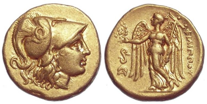 Ancient Coins - Macedonian Kingdom, Philip III. 323 to 317 BC. Gold Stater.