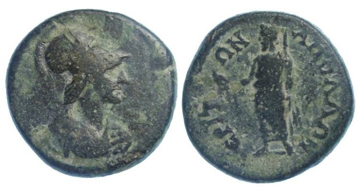 Ancient Coins - Lydia, Apollonieron.  ca. early 3th century AD.  AE 18.