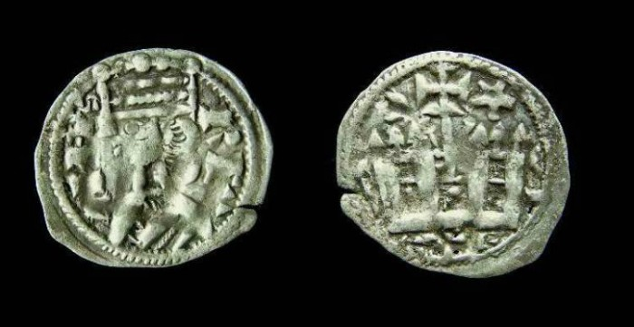 Ancient Coins - Spain, Castile. Alfonso VIII, AD 1158-1214. Billon dinero.