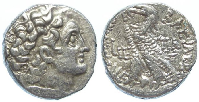 Ancient Coins - Ptolemaic Kingdom. Ptolemy XII, 80 to 58 and 50 to 51 BC. AR tetradrachm.