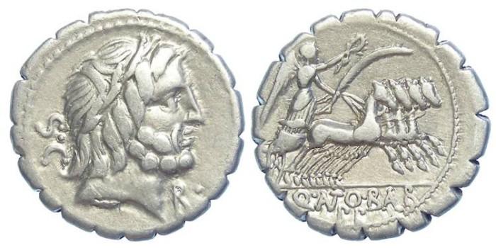 Ancient Coins - Roman Republic. Q Antoninus Balbus. ca. 83 BC. Silver denarius.  4.15 GRAMS.