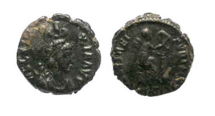 Ancient Coins - Eudoxia.  AD 383 to 404.  AE 3.