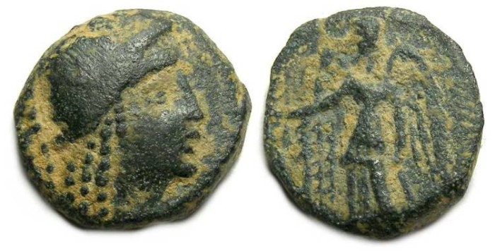 Ancient Coins - Nabataean, Aretas II, 110 to 96 BC. AE 15