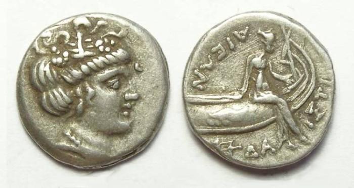 Ancient Coins - Euboia, Histiaia. 3rd to 2nd century BC. Silver tetrobol