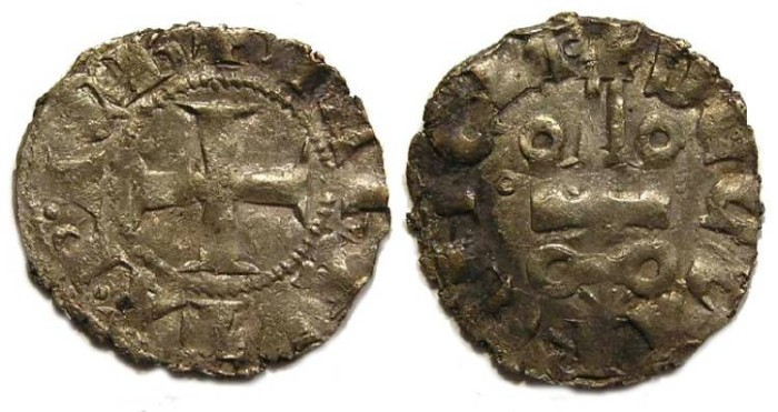 Ancient Coins - Crusaders, Achaea, Maud of Hainaut, AD 1316-1318