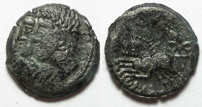 Ancient Coins - Celtic, Gaul. Remi Tribe. ca. 65 to 20 BC.