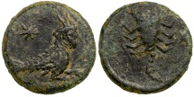 Ancient Coins - Cyprus, time of Augustus, 27 BC to AD 14. AE 15.