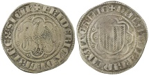 World Coins - Sicily, Frederic IV (The Simple), AD 1355 to 1377. Silver pierreale