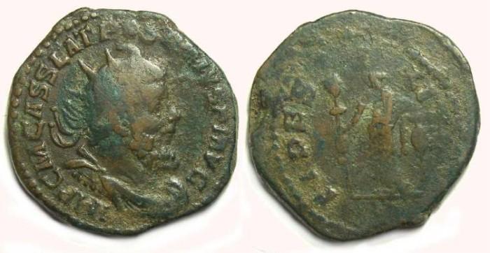 Ancient Coins - Postumus, AD 259-268. AE double sestertius.