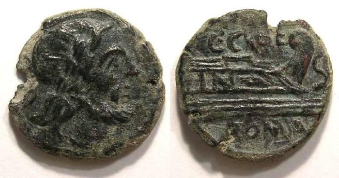 Ancient Coins - Roman Republic. C. Curiatus C.f. Trigeminus, ca. 135 BC